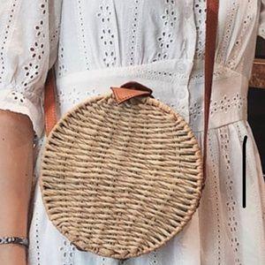 Straw Weave Crossbody Bag